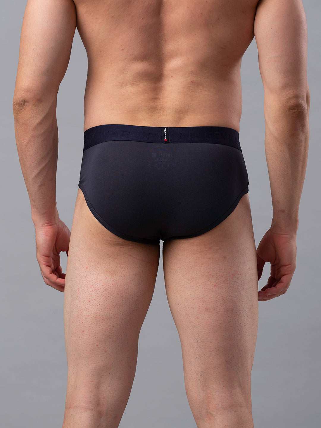 Underjeans Grey Cotton Brief - Pack of 2