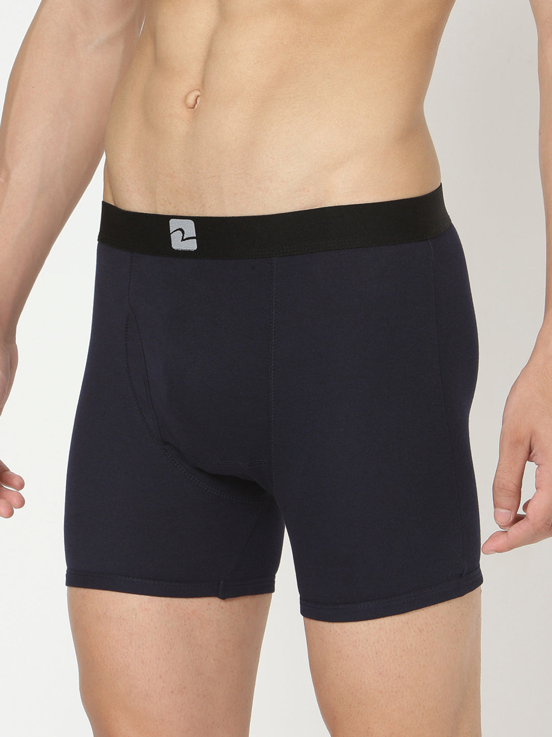 Underjeans Navy Cotton Trunks Pack of 2