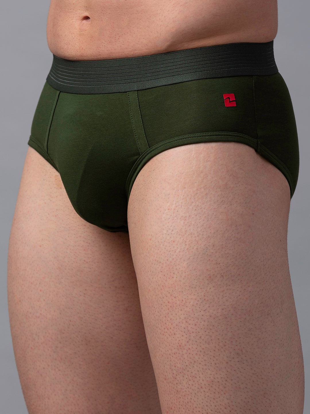 Underjeans Olive Cotton Brief