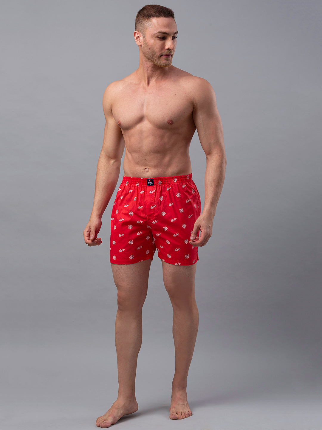 Underjeans Red Cotton Boxers - Pack of 2