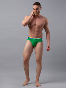 Underjeans Green Cotton Brief