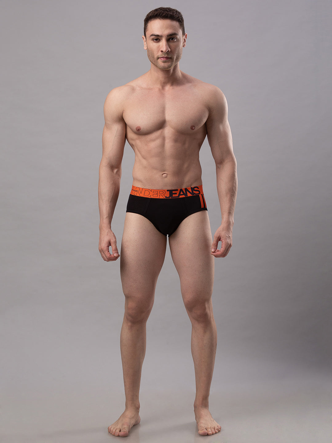 Underjeans Black Cotton Brief