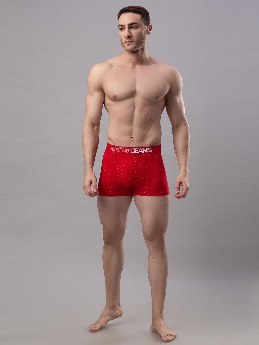 Underjeans Red Cotton Trunks - Pack of 2