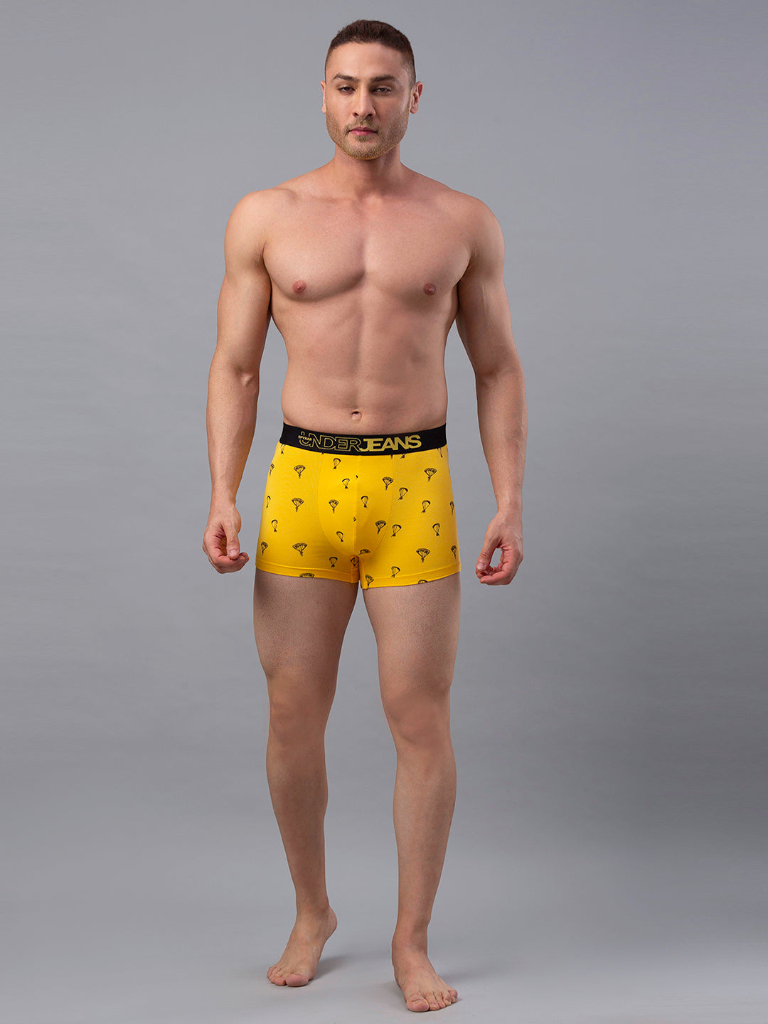 Underjeans Yellow Cotton Trunk - Pack of 2