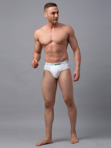 Underjeans White Cotton Briefs - Pack of 2