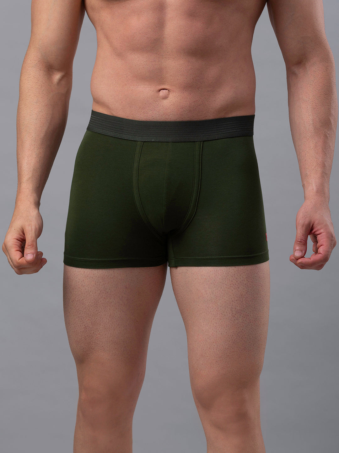 Underjeans Green Cotton Trunks - Pack of 2