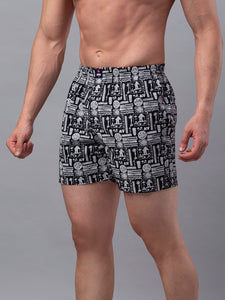 Underjeans Black Cotton Boxers