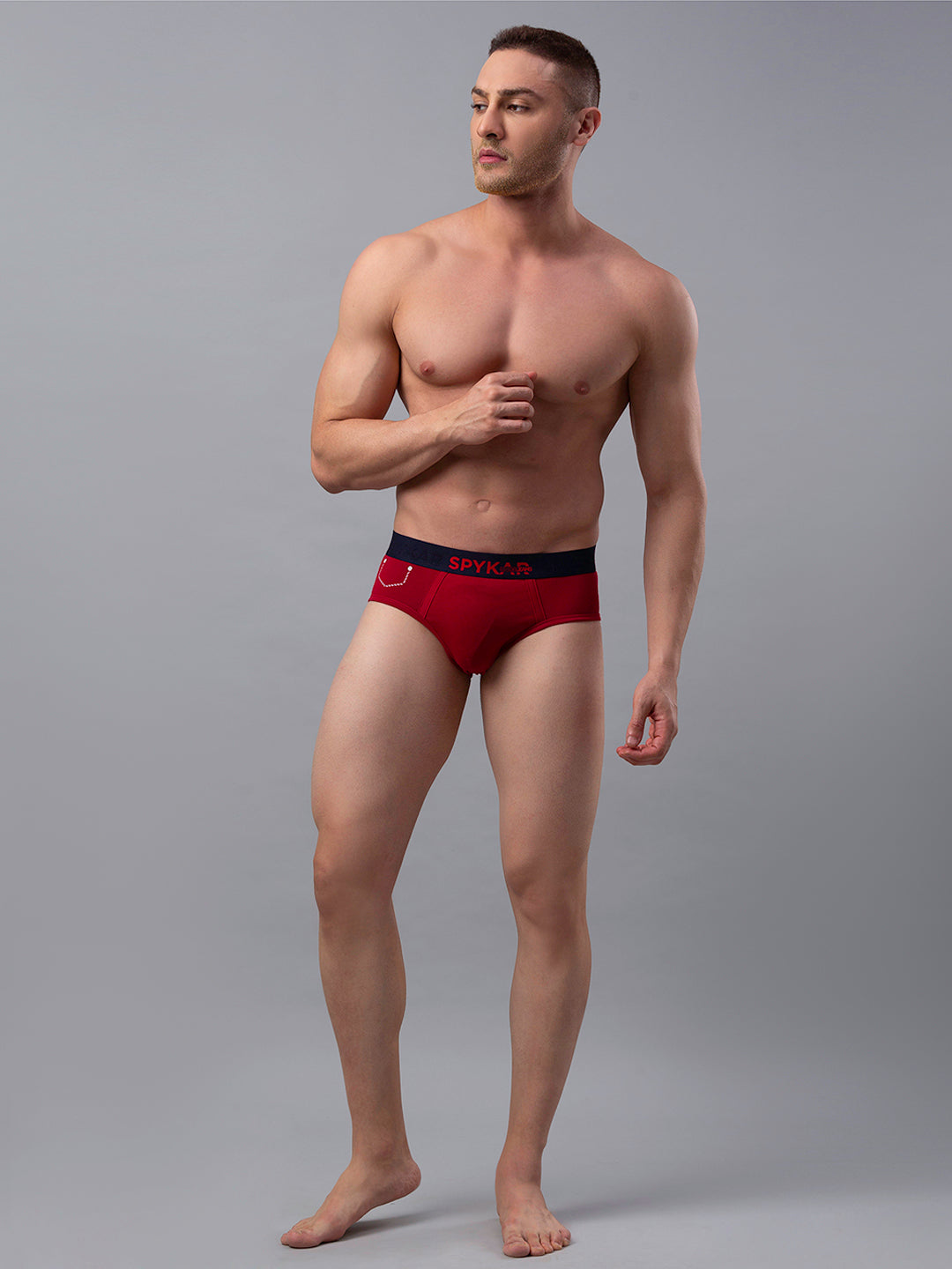 Underjeans Maroon Cotton Brief