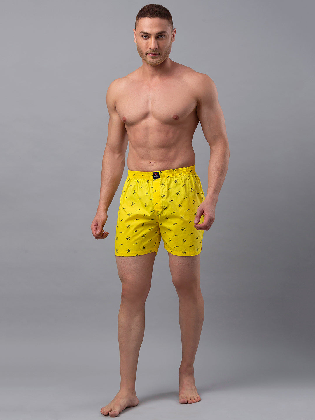 Underjeans Yellow Cotton Boxers - Pack of 2