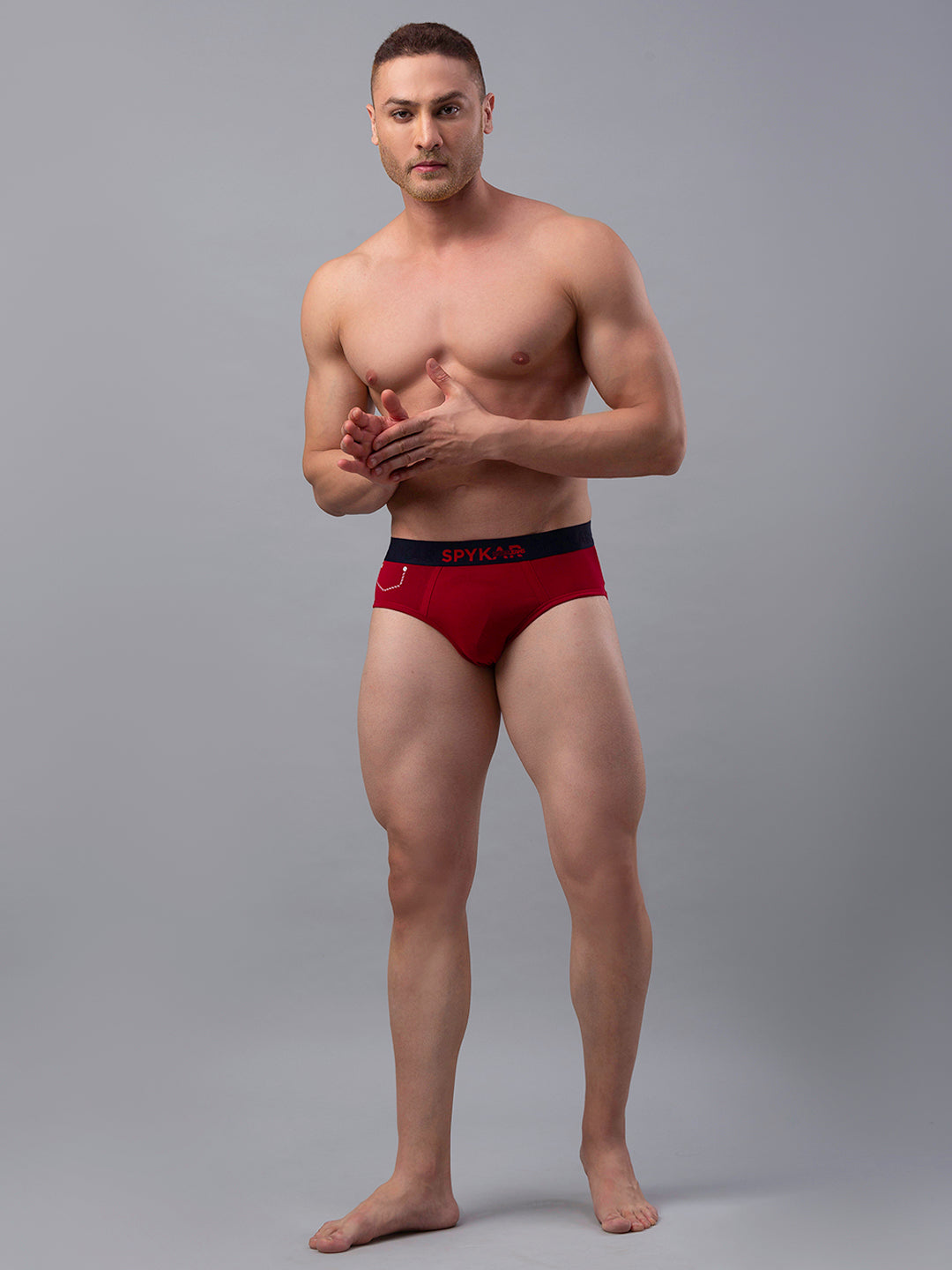 Underjeans Red Cotton Briefs - Pack of 2