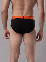 Load image into Gallery viewer, Underjeans Black Cotton Brief