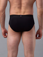 Load image into Gallery viewer, Underjeans Black Cotton Brief - Pack of 2