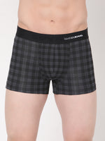 Load image into Gallery viewer, Underjeans Black-Check Cotton Trunks Pack of 2