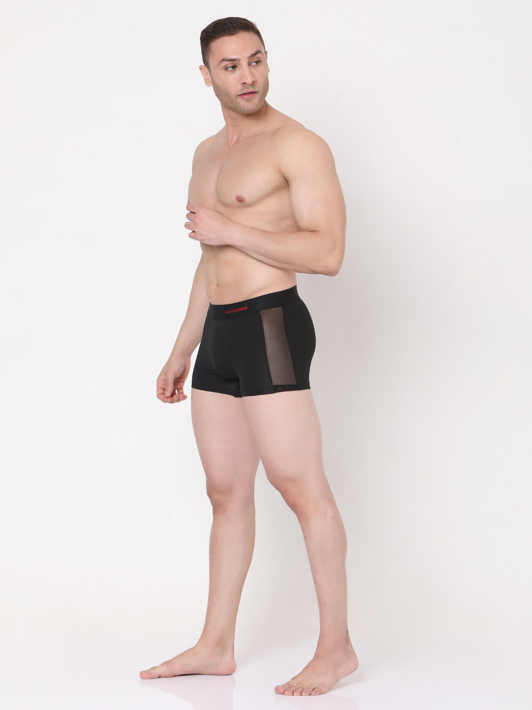 Underjeans Black Cotton Trunks