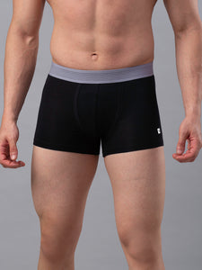 Underjeans Black Cotton Trunk - Pack of 2