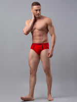 Load image into Gallery viewer, Underjeans Red Cotton Brief - Pack of 2