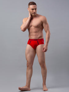 Underjeans Red Cotton Brief - Pack of 2
