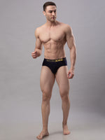 Load image into Gallery viewer, Underjeans Navy Blue Cotton Brief
