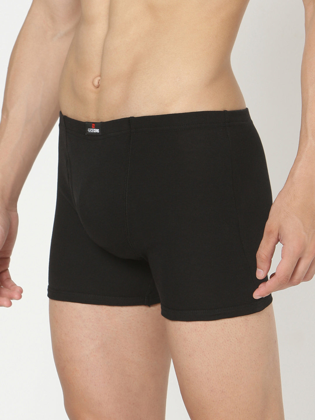 Underjeans Black Cotton Trunks Pack of 2
