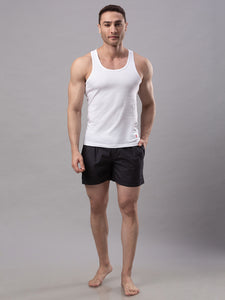 Underjeans White 100% Cotton Vest (Round Neck)
