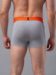 Underjeans Grey Cotton Trunk - Pack of 2