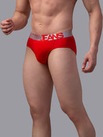 Load image into Gallery viewer, Underjeans Red Cotton Briefs - Pack of 2