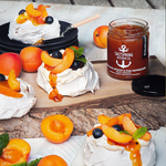 Mini Apricot Pavlovas with Coconut Whip
