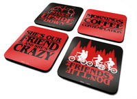 STRANGER THINGS - Phrases coasters (set of 4)
