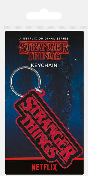 STRANGER THINGS - Logo keyring RK38886C
