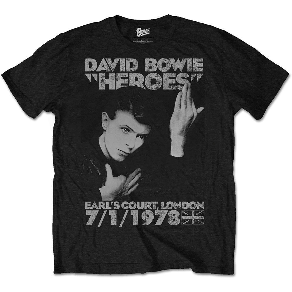 DAVID BOWIE - Heroes Earl's Court t-shirt