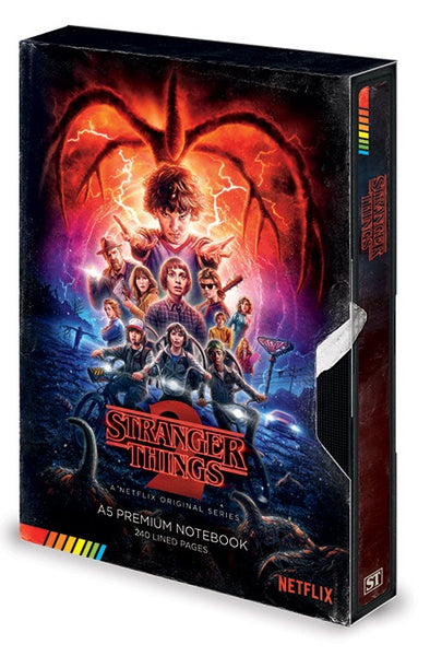 STRANGER THINGS - Season 2 VHS A5 notebook