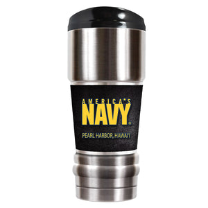 NAVY STAINLESS STEEL TUMBLER