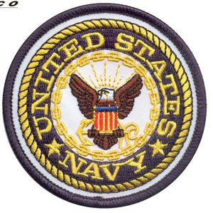 US NAVY ROUND EMBROIDERED PATCH