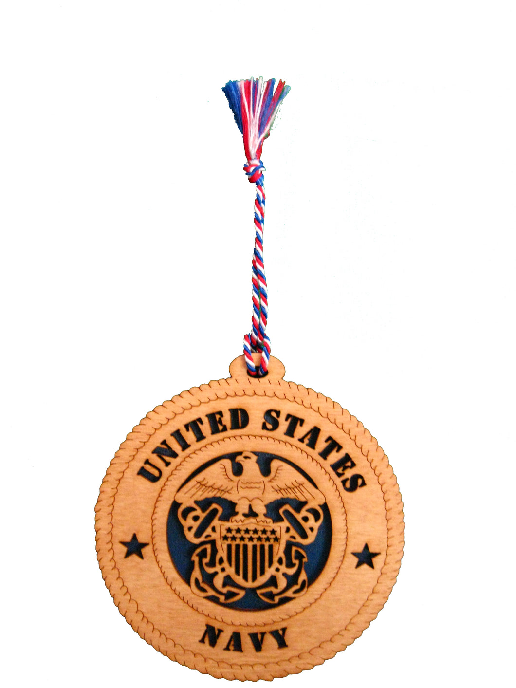 US NAVY WOOD ORNAMENT