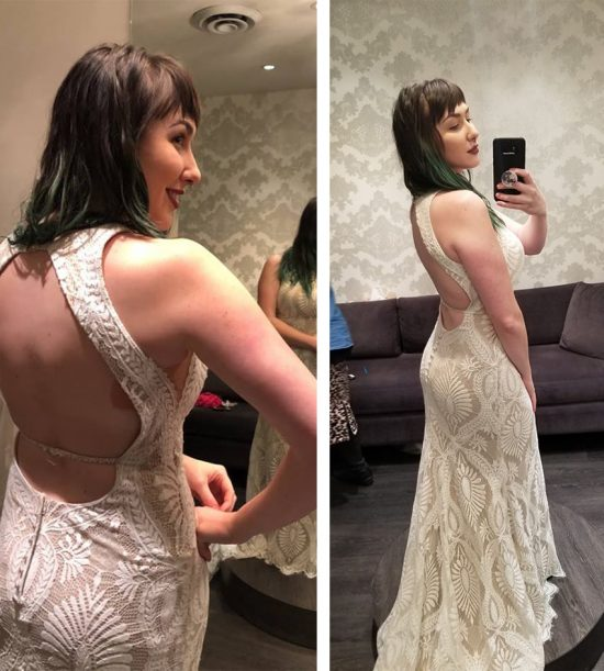 backless dress, backless dress solution, breast tape, booby tape, boob tape, wedding, grad, fashion fixes