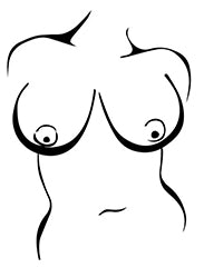 Full and Large breast tissue
