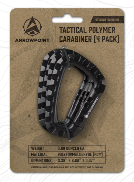 Arrowpoint Tactical Polymer Carabiners (4-Pack)