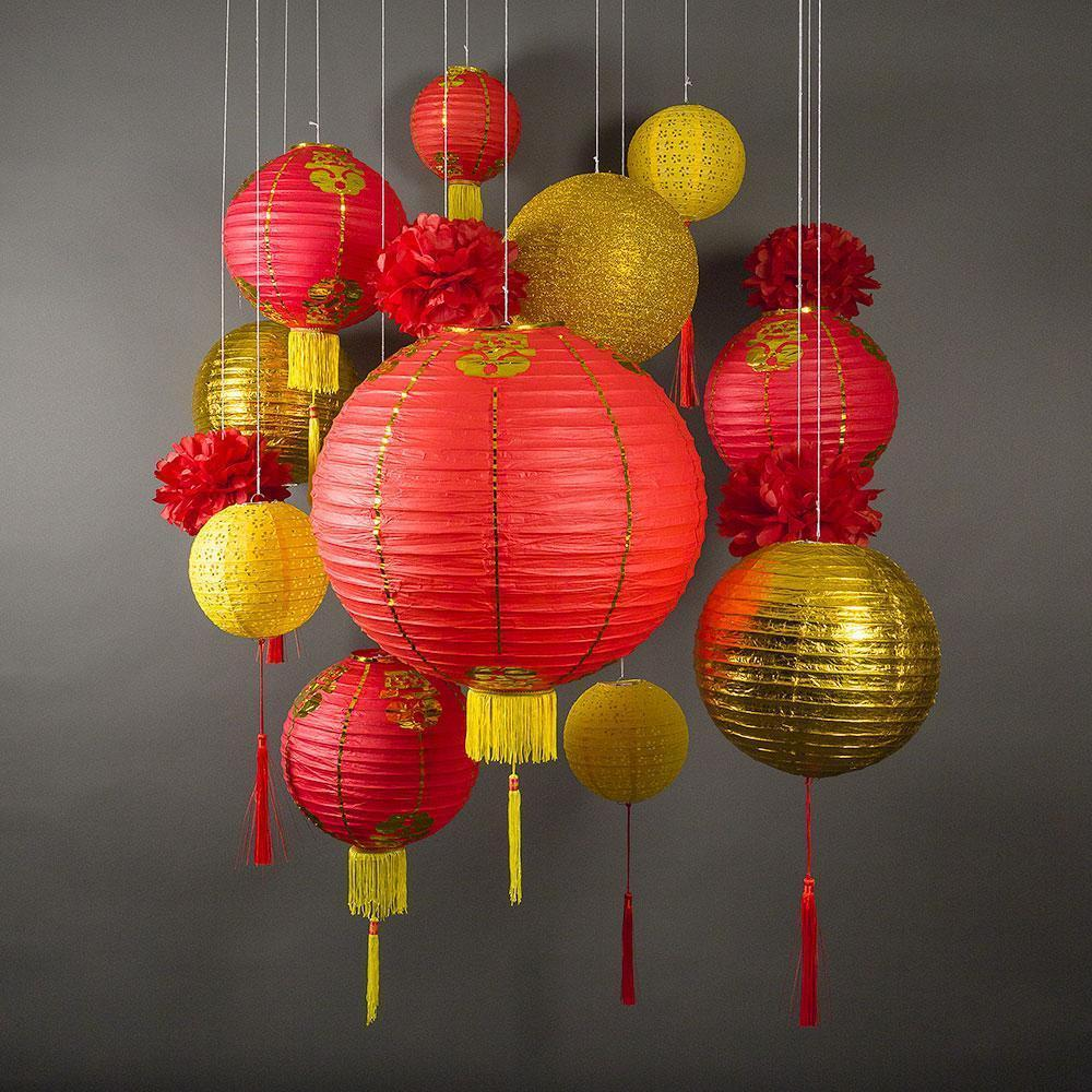 Traditional Chinese Lanterns w/ Tassels