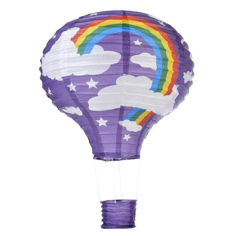 Hot Air Balloon Paper Lanterns with Rainbow