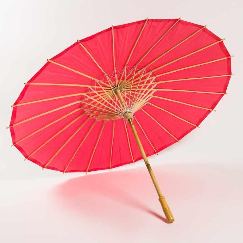 Paper Parasols in Solid Colors & Assorted Sizes
