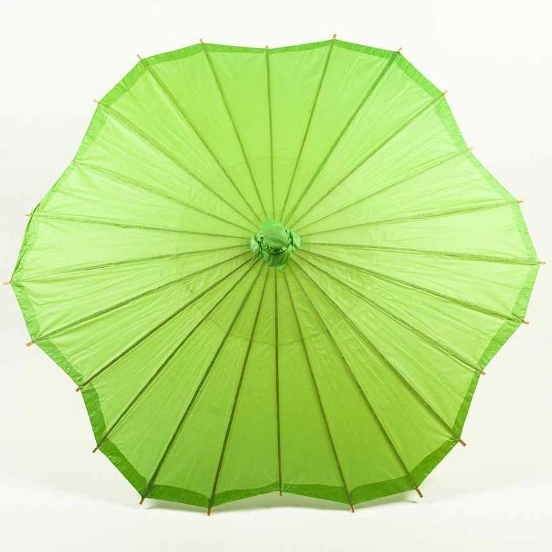 Solid Color Scalloped Shaped Parasols
