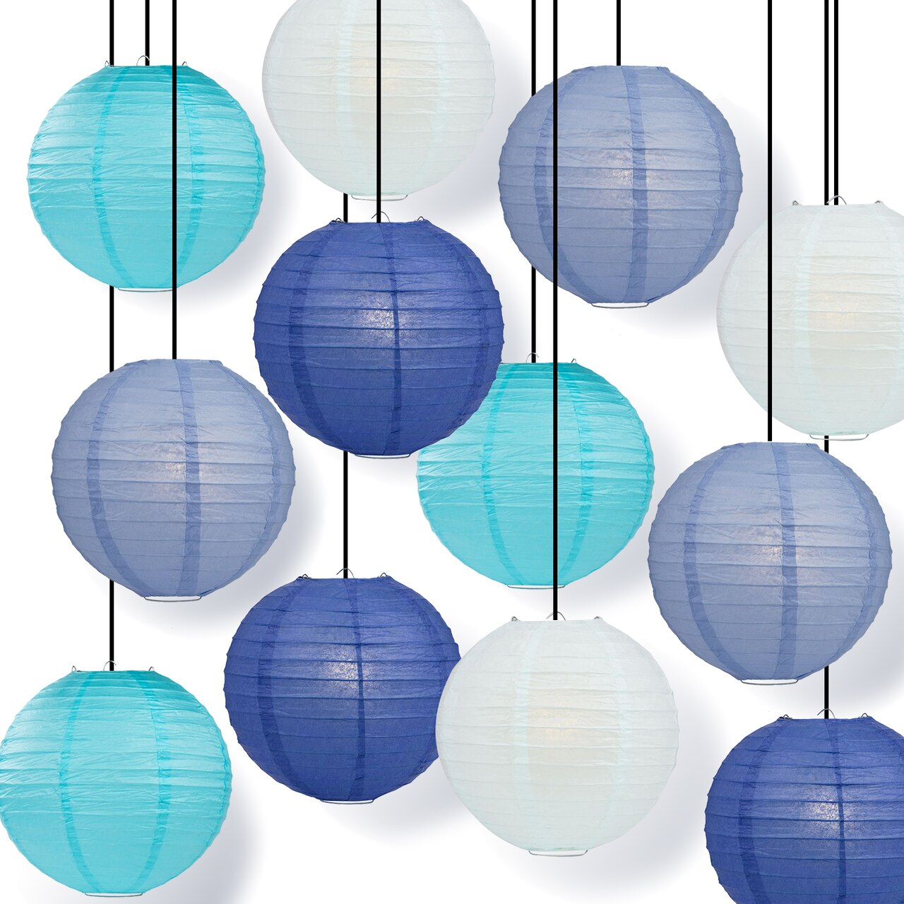 Clearance Multi Color Paper Lanterns