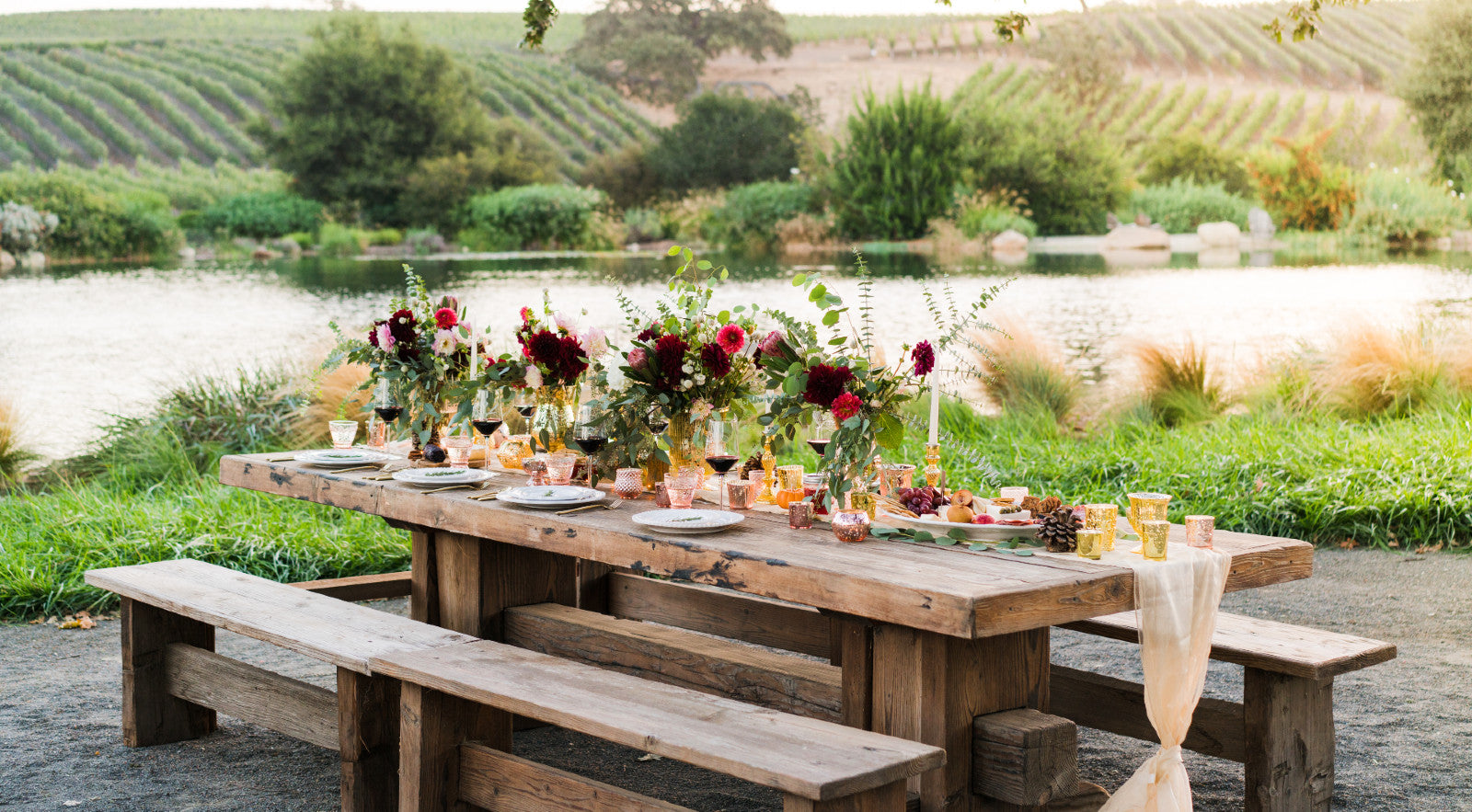 outdoor table top decor