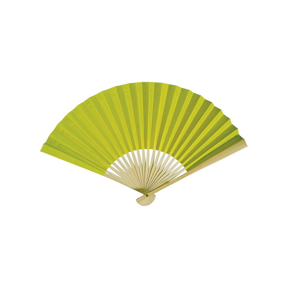 CLOSEOUT Chartreuse Green Premium Paper Hand Fan, Set of 5 - Luna Bazaar | Boho & Vintage Style Decor