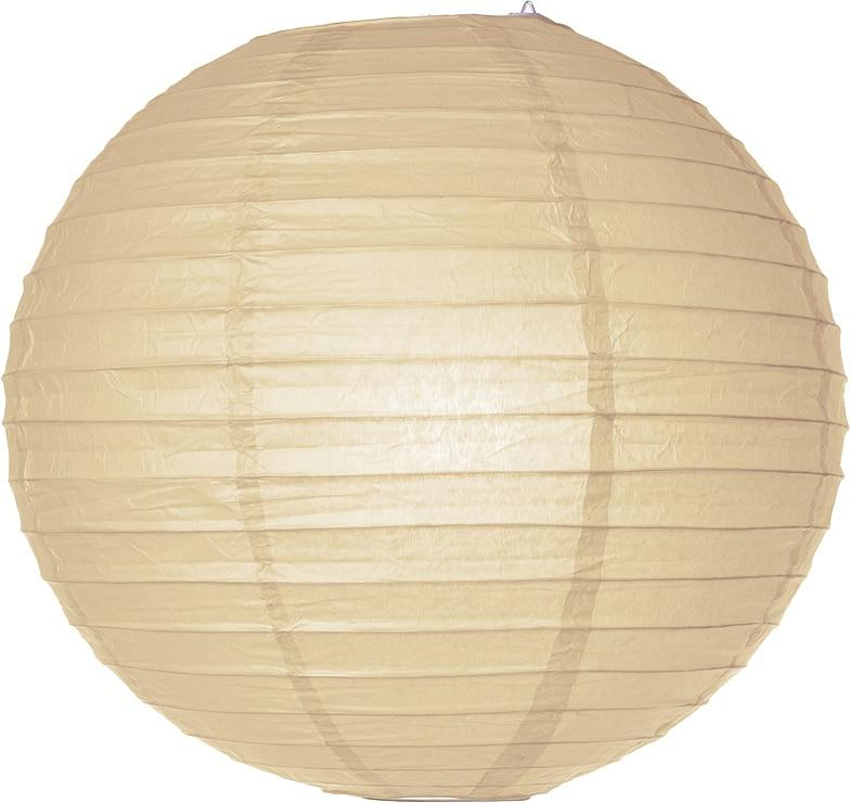 CLOSEOUT Straw Yellow 18 Inch Round Parallel Ribbed Premium Paper Lantern - Luna Bazaar - Discover. Decorate. Celebrate