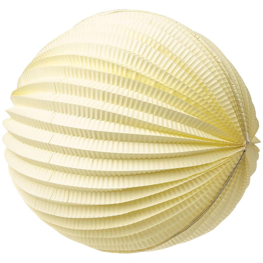 "12"" Ivory Accordion Paper Lantern Ball - Luna Bazaar 