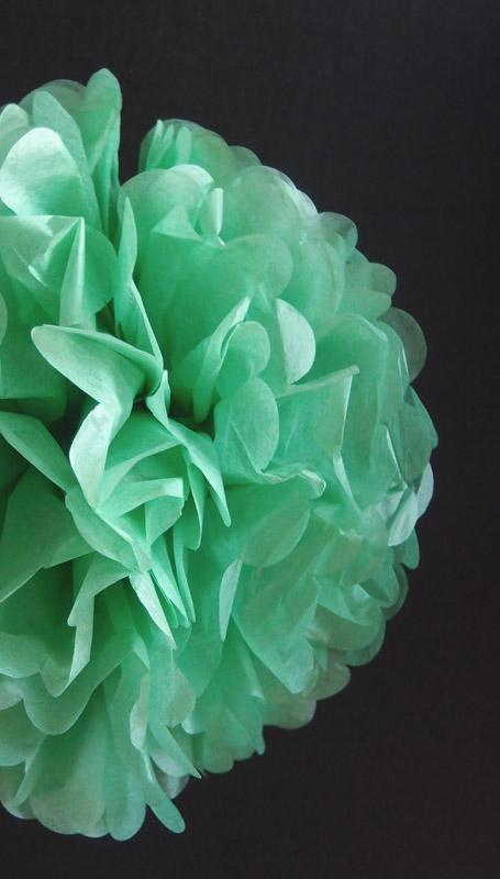 "CLOSEOUT EZ-Fluff 12"" Grass Greenery Tissue Paper Pom Poms Flowers Balls, Decorations (4 PACK) - Luna Bazaar - Discover. Decorate. Celebrate"