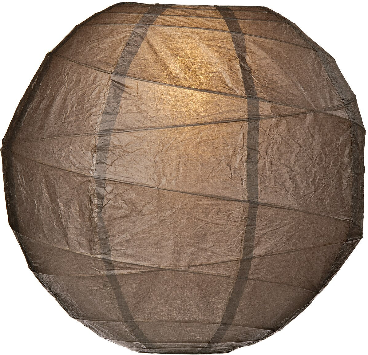 "12-Pack 24"" Driftwood Grey Free-Style Ribbing Round Paper Lantern - Luna Bazaar - Discover. Decorate. Celebrate"