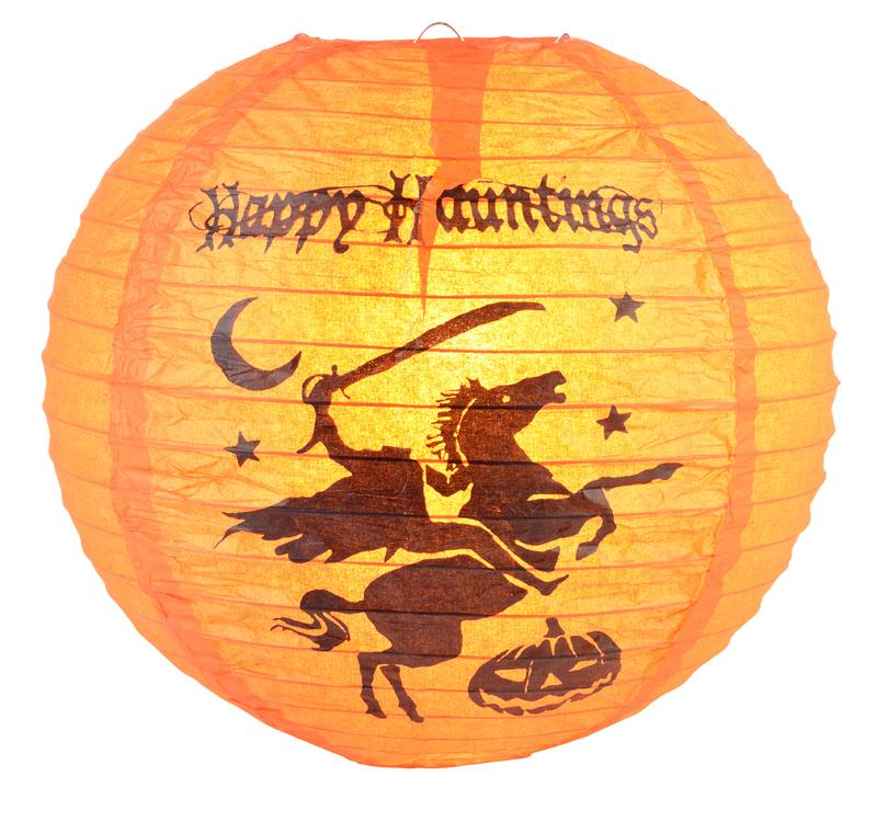 "CLOSEOUT 12"" Headless Horseman Halloween Paper Lantern - Luna Bazaar - Discover. Decorate. Celebrate"