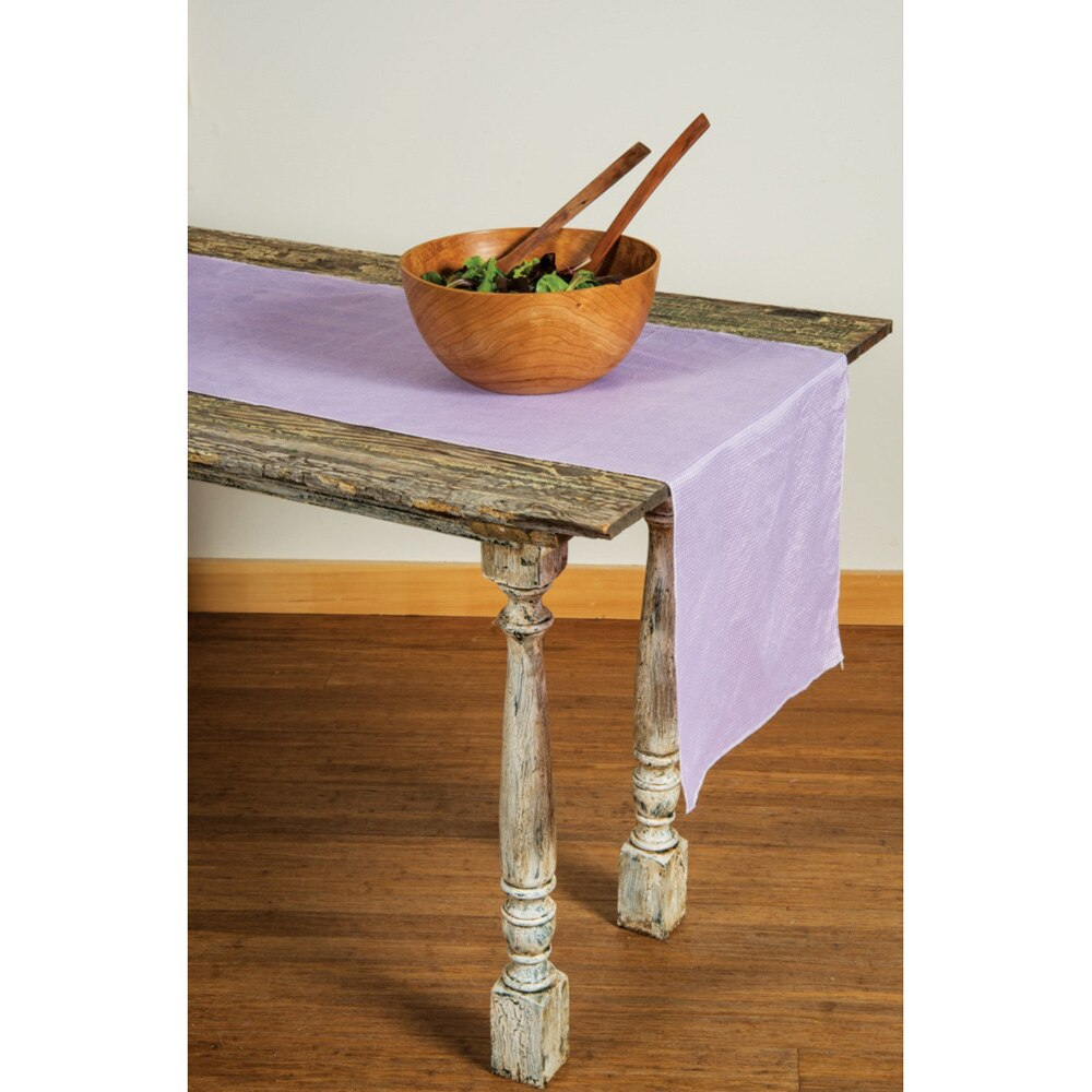 CLOSEOUT Lilac Purple Gingham Cotton Table Runner - Luna Bazaar - Discover. Decorate. Celebrate